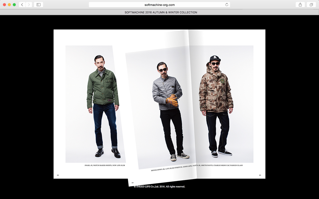 SOFTMACHINE 2016 A/W Web Catalog