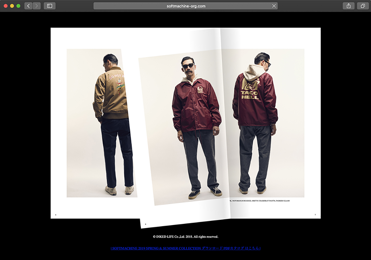 SOFTMACHINE 2019 SPRING & SUMMER Web Catalog