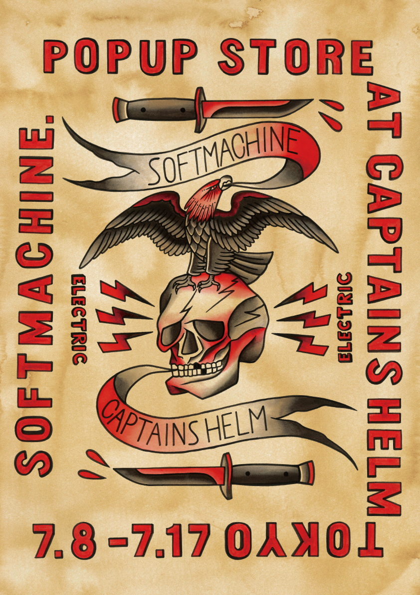 SOFTMACHINE POPUP STORE at CAPTAINS HELM TOKYO