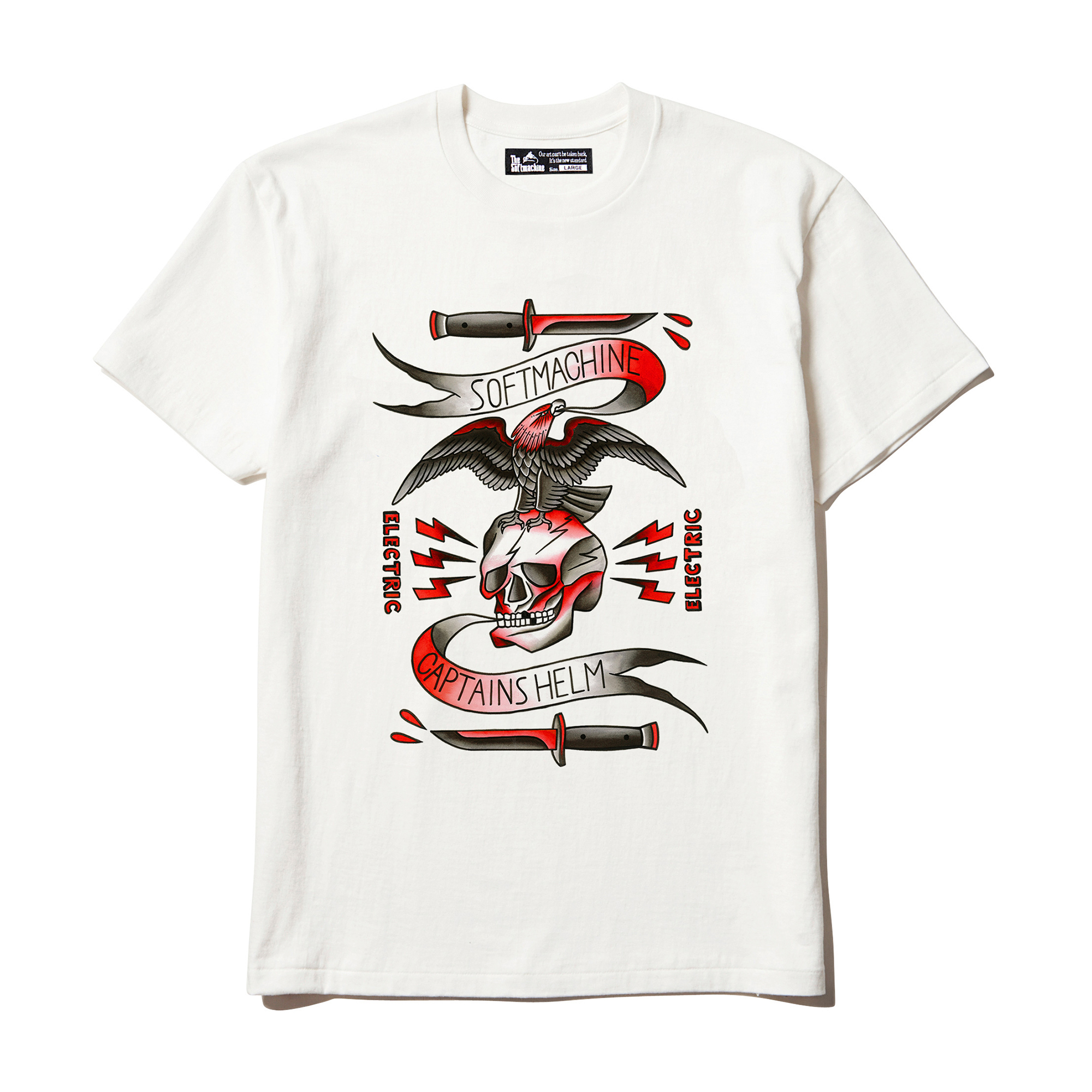 SOFTMACHINE × CAPTAINS HELM コラボレーション ELECTRIC TATTOO-T
